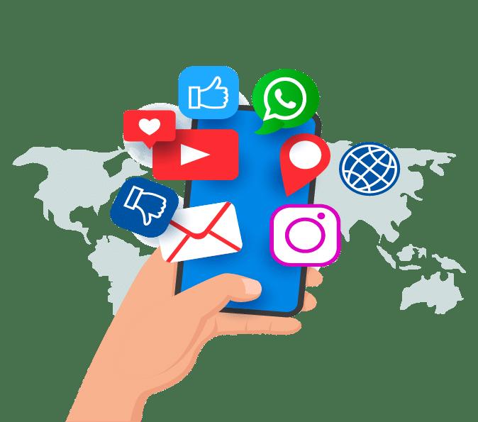 telefono redes sociales